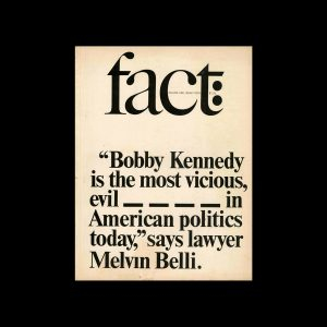 Fact, Volume One, Issue Four, 1964. Designed by Herb Lubalin