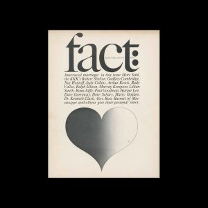 Fact, Volume Three, Issue One, 1966. Designed by Herb Lubalin