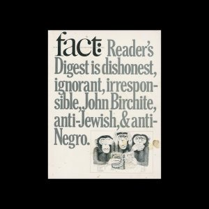 Fact, Volume Three, Issue Two, 1966. Designed by Herb Lubalin