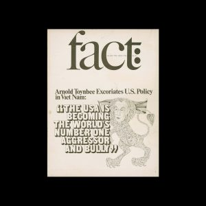 Fact, Volume Two, Issue Five, 1965. Designed by Herb Lubalin
