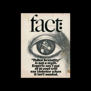 Fact, Volume Two, Issue Six, 1965. Designed by Herb Lubalin