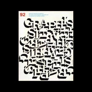 Graphis 92, 1960. Cover design by Alan Fletcher.