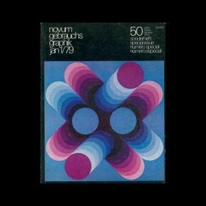 Novum Gebrauchsgraphik, 1, 1979. Cover design by Victor Vasarely