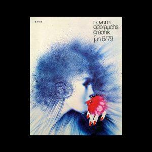 Novum Gebrauchsgraphik, 6, 1979. Cover design by Guerlain