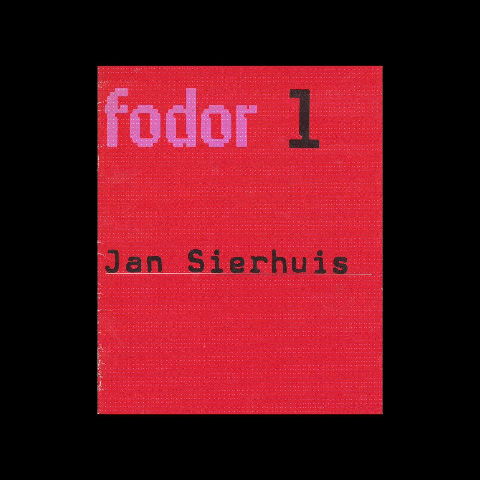 Fodor 1, 1972 - Jan Sierhuis. Designed by Wim Crouwel.