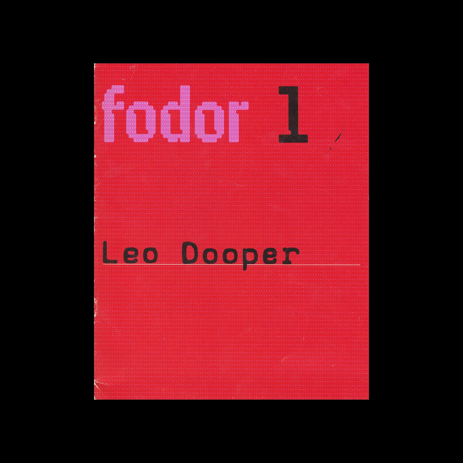 Fodor 1, 1972 - Leo Dooper. Designed by Wim Crouwel.