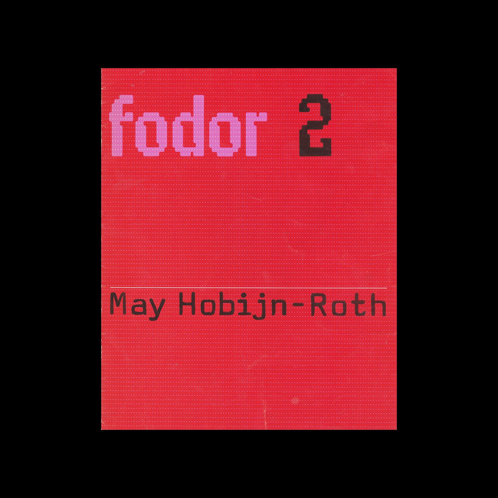 Fodor 2, 1972 - May Hobijn-Roth. Designed by Wim Crouwel