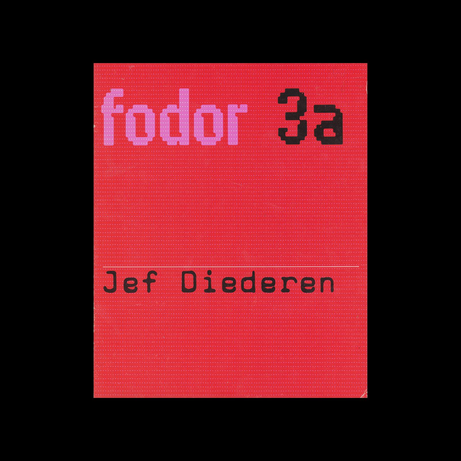 Fodor 3a, 1972 - Jef Diederen. Designed by Wim Crouwel.