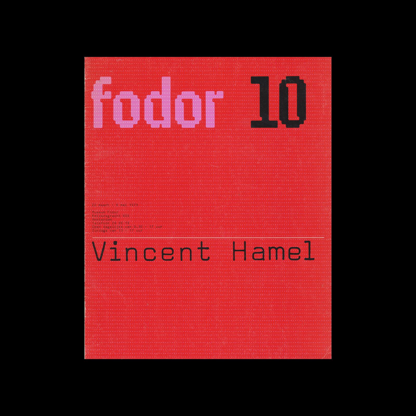 Fodor 10, 1973 - Vincent Hamel. Designed by Wim Crouwel and Dapne Duijvelshoff (Total Design).
