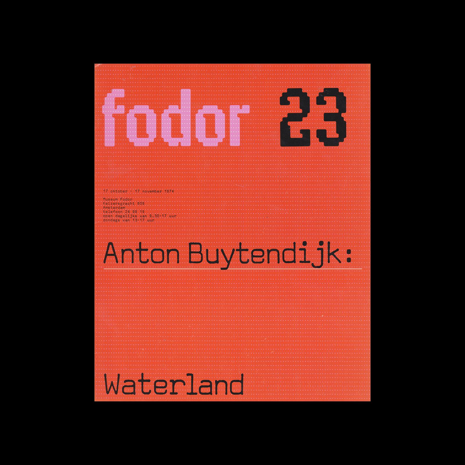 Fodor 23, 1974 - Anton Buytendijk, Waterland. Designed by Wim Crouwel and Daphne Duijvelshoff (Total Design)