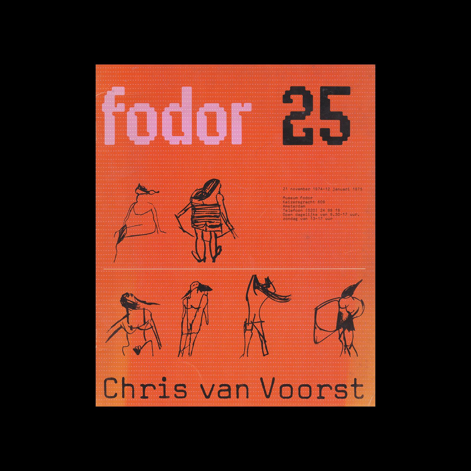 Fodor 25, 1974 - Chris van Voorst. Designed by Wim Crouwel and Daphne Duijvelshoff (Total Design)