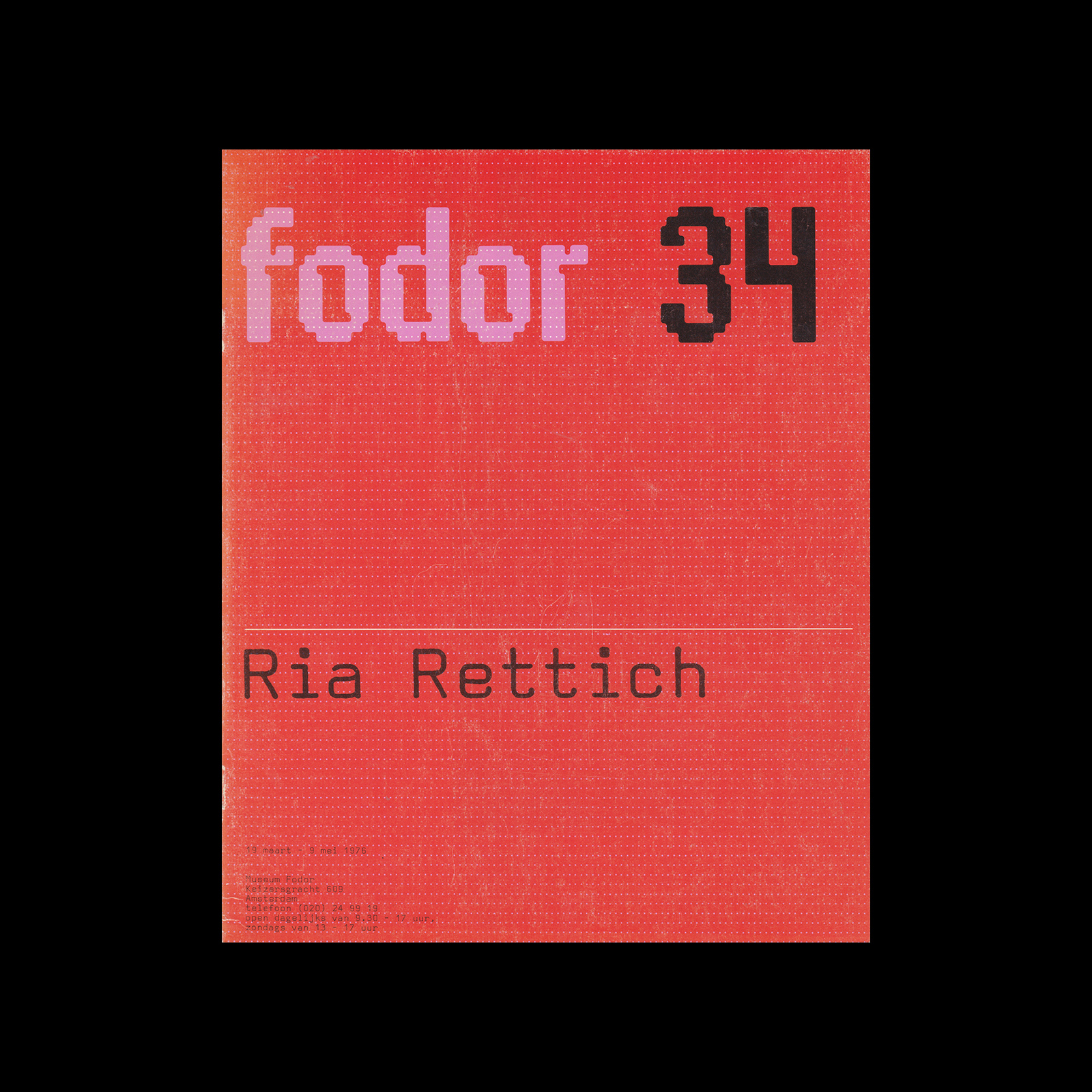 Fodor 34, 1976 - Ria Rettich. Designed by Wim Crouwel and Daphne Duijvelshoff (Total Design)