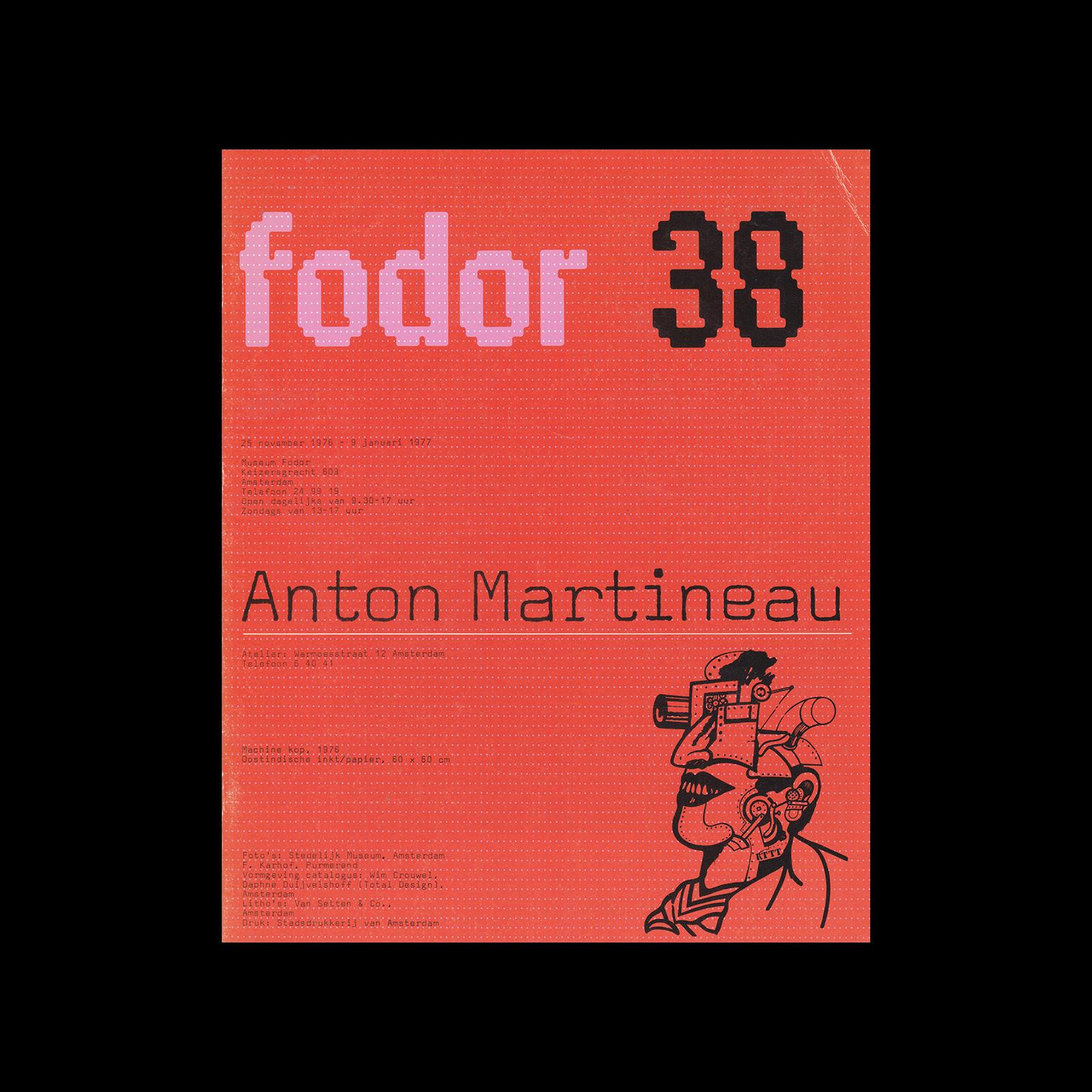 Fodor 38, 1977 - Anton Martineau. Designed by Wim Crouwel and Daphne Duijvelshoff (Total Design)