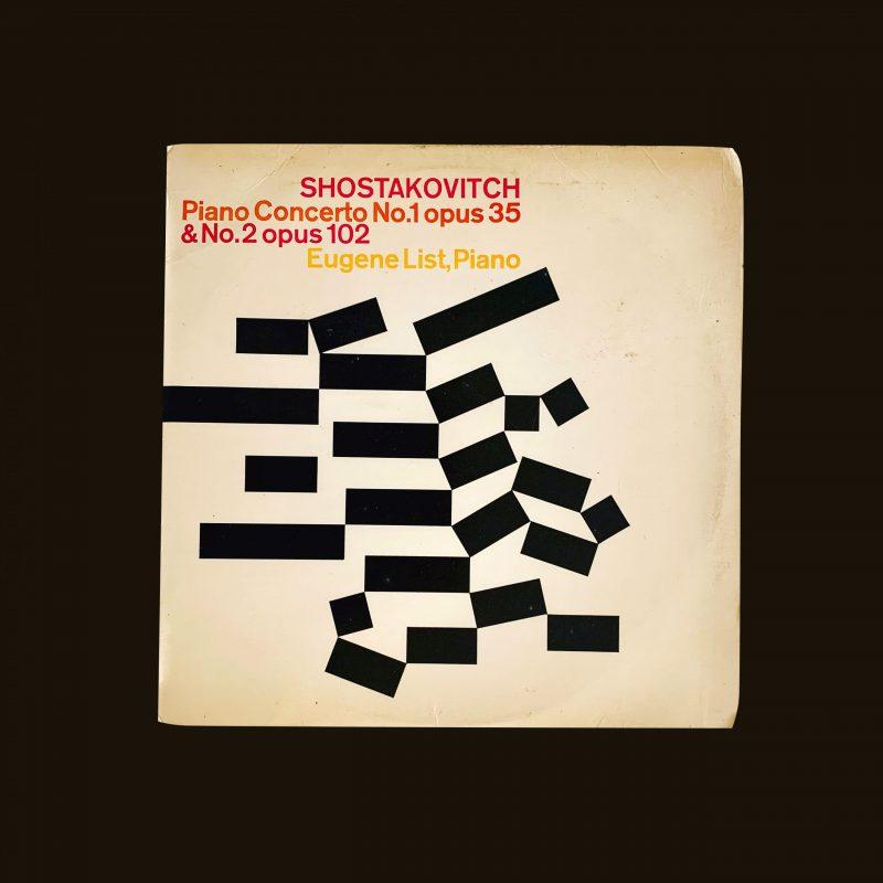 Shostakovitch Piano Concerto No. 1 opus 35 & No. 2 opus 102. Designed by Rudolph de Harak.