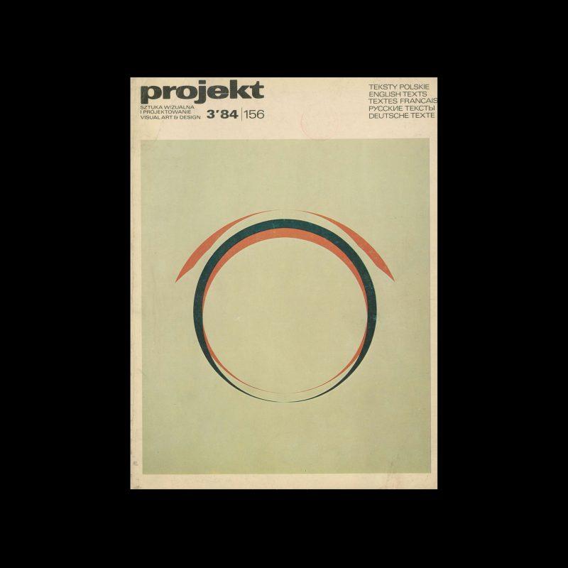 Projekt 156, 3, 1984. Cover design by Jerzy Kałucki