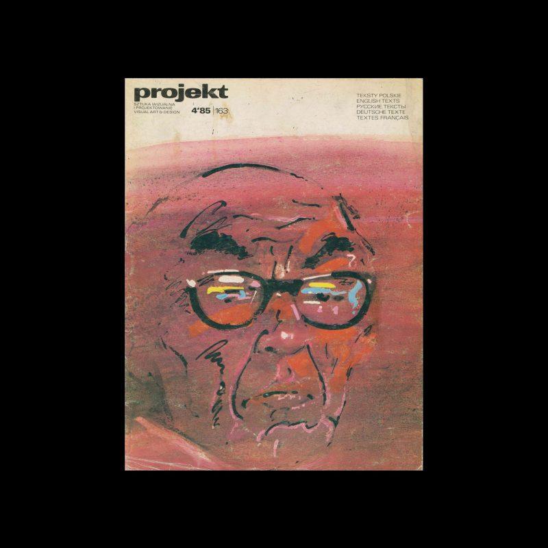 Projekt 163, 4, 1985. Cover design by Portret H. Tomaszewskiego