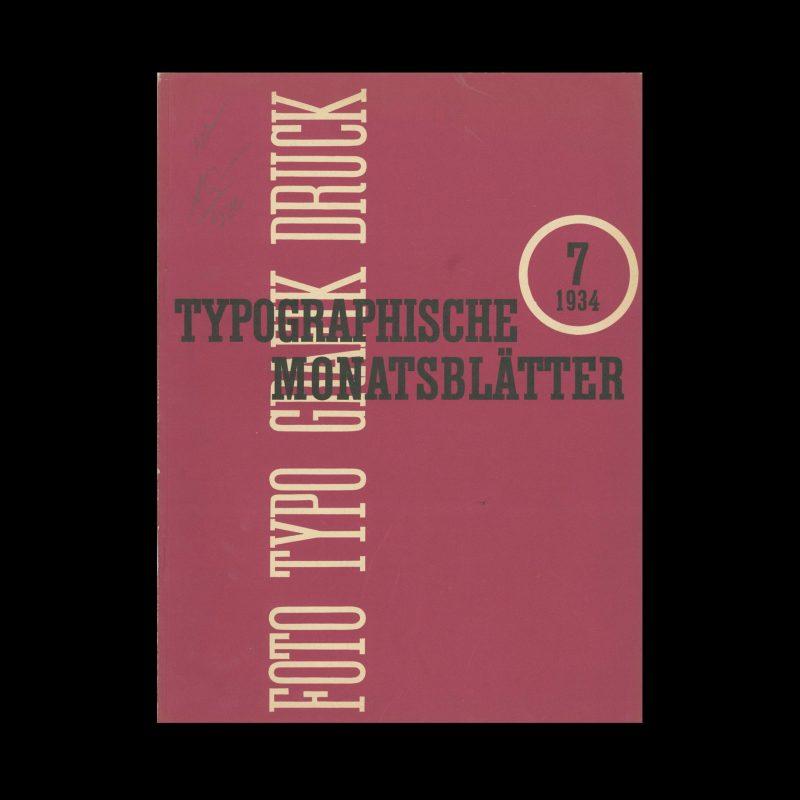 Typografische Monatsblätter, 7, 1934