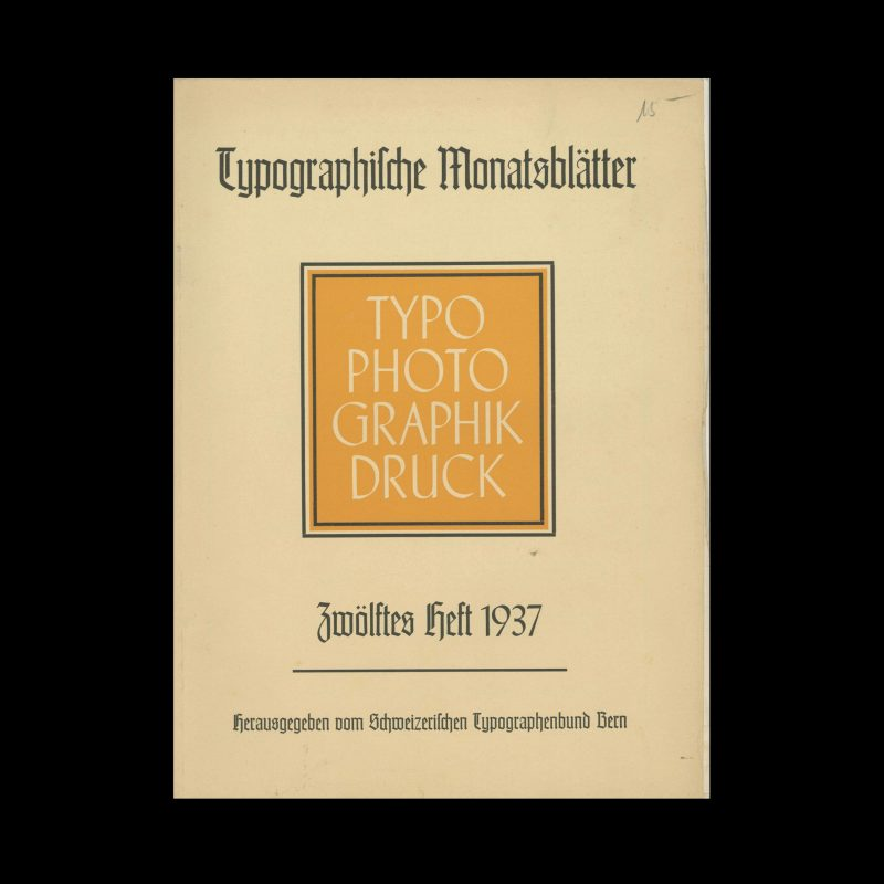 Typografische Monatsblätter, 12, 1937