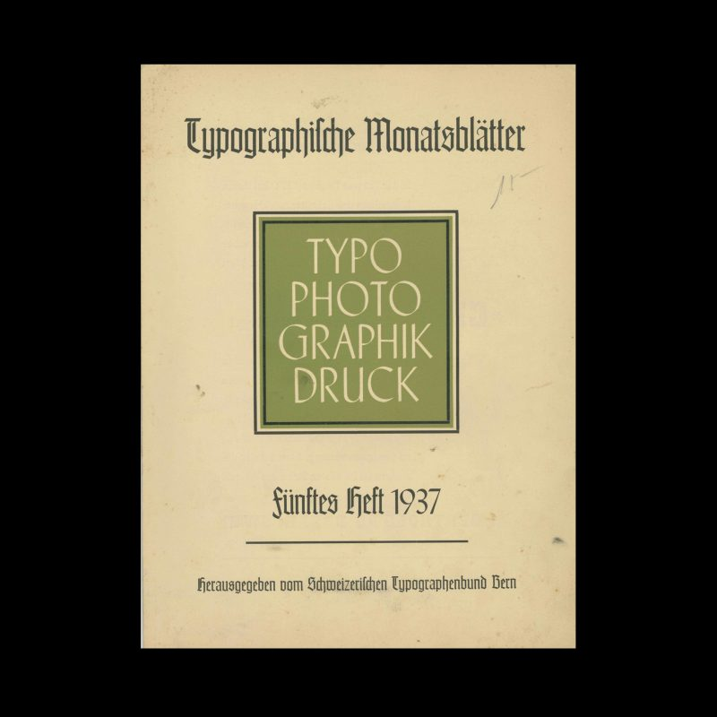 Typografische Monatsblätter, 5, 1937