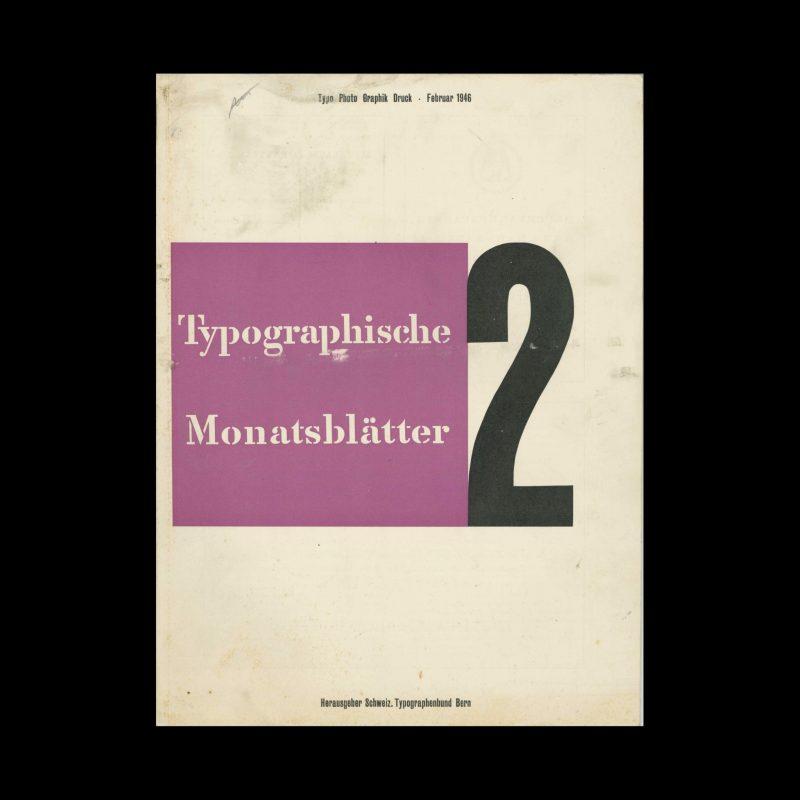 Typografische Monatsblätter, 2, 1946