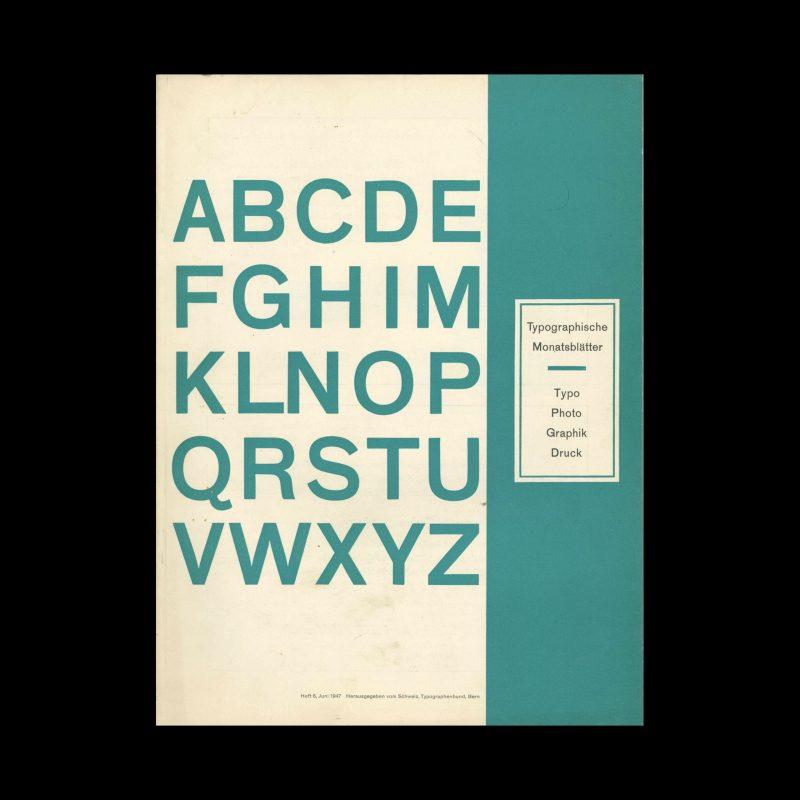 Typografische Monatsblätter, 6, 1947