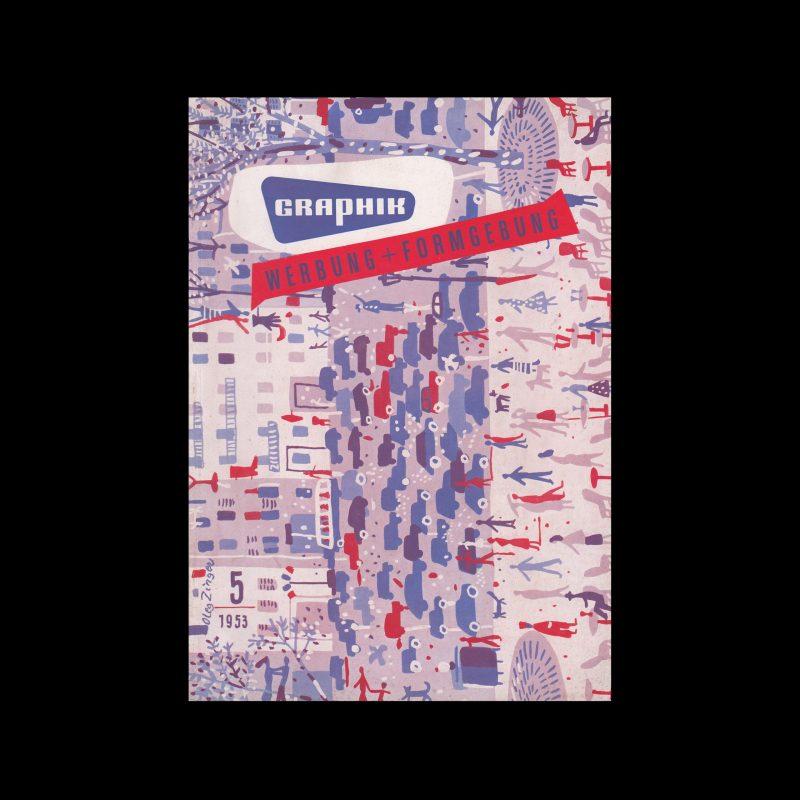 Graphik - Werbung + Formgebung, 5, 1953. Cover design by Oleg Zinger