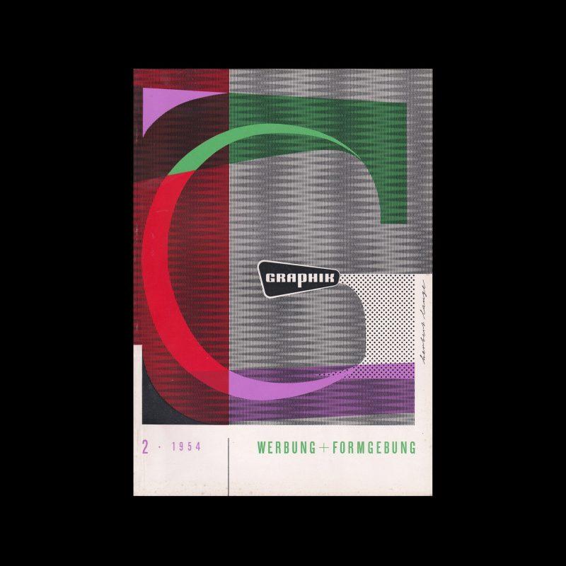 Graphik - Werbung + Formgebung, 2, 1954. Cover design Herbert Lange
