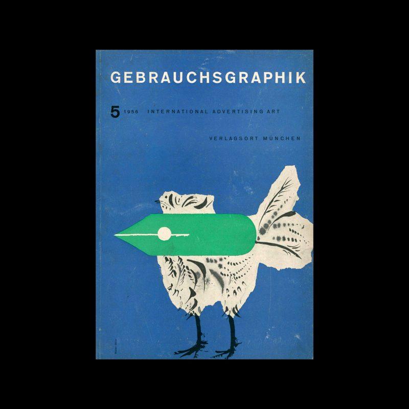 Gebrauchsgraphik, 5, 1956. Cover design by Muller-Blase.