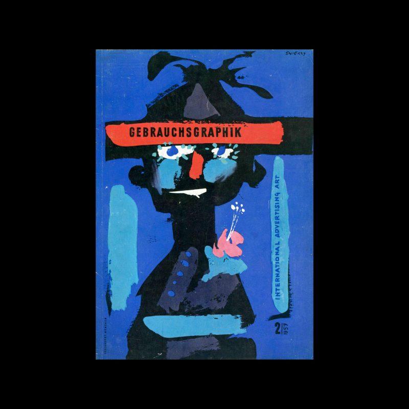 Gebrauchsgraphik, 2, 1957. Cover designed by Waldemar Świerzy