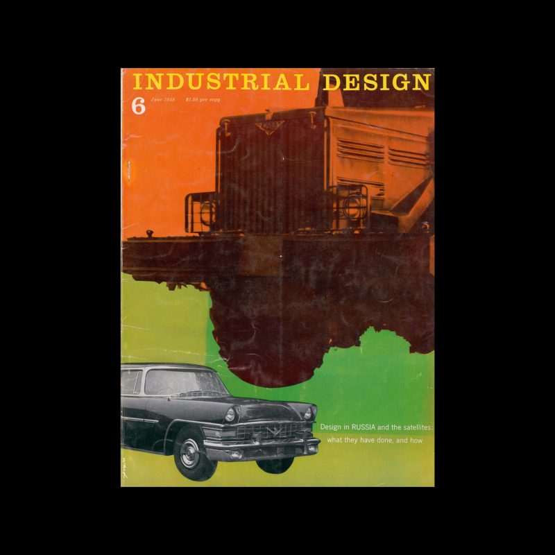 Industrial Design, June, 1958. Cover designed by James S Ward