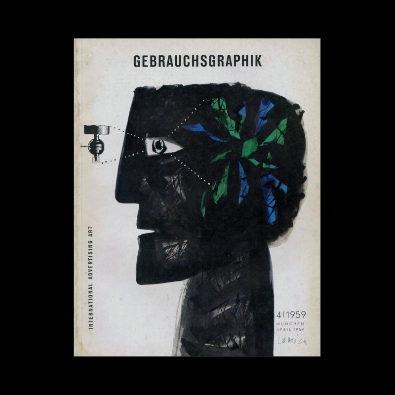 Gebrauchsgraphik, 4, 1959. Cover design by Jan Lenica
