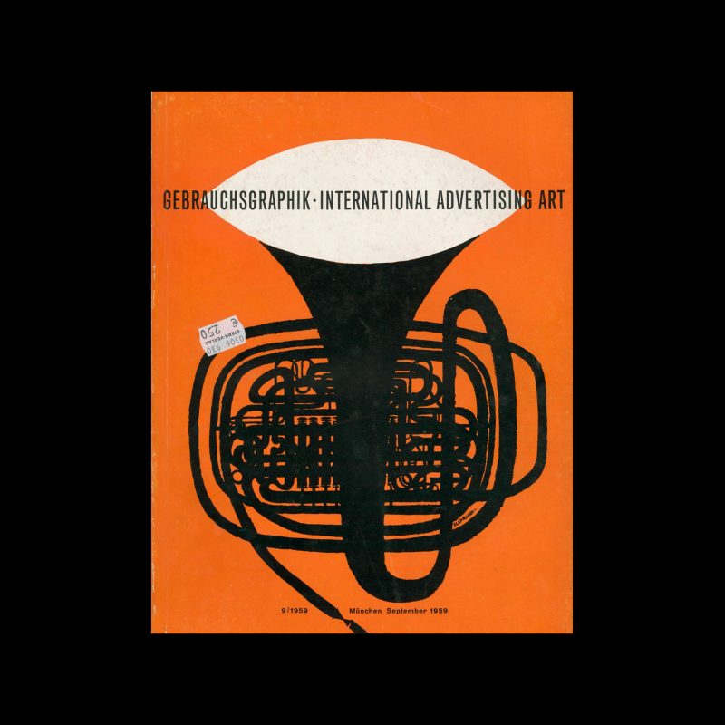 Gebrauchsgraphik, 9, 1959. Cover design by Giancarlo Iliprandi