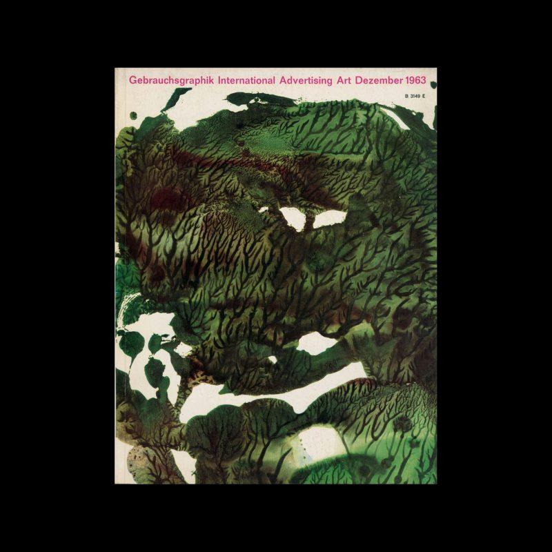 Gebrauchsgraphik, 12, 1963. Cover design by Olga Blumenberg and Fritz Schürmann