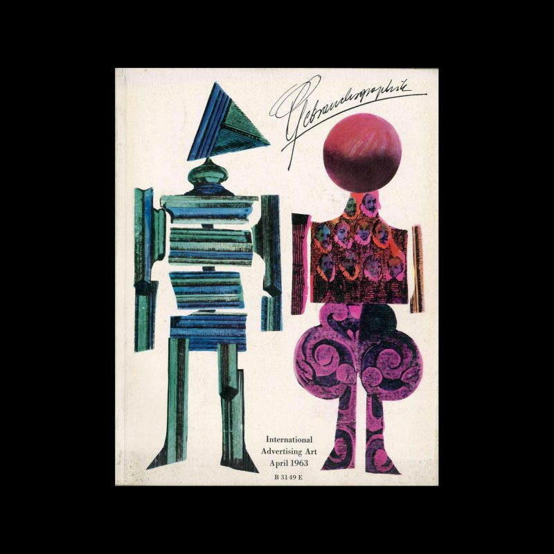 Gebrauchsgraphik, 4, 1963. Covers design by Roman Cieślewicz
