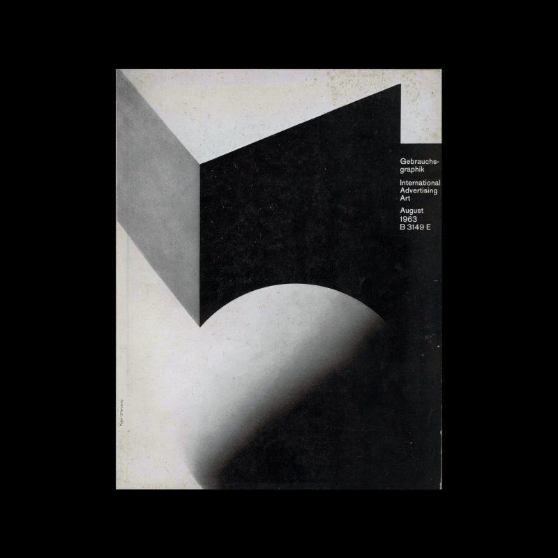 Gebrauchsgraphik, 8, 1963. Cover design by Peter Offenburg