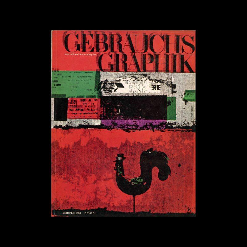 Gebrauchsgraphik, 9, 1963. Cover design by Coort von Mannstein