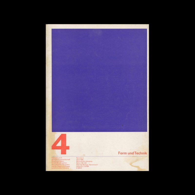 Form und Technik, 4, 1965