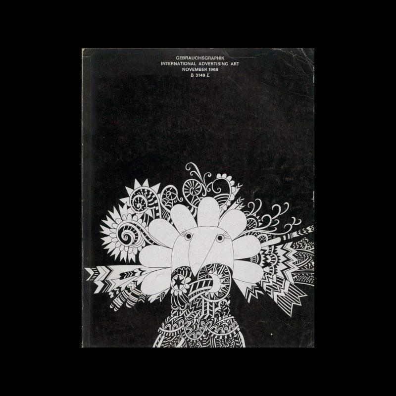 Gebrauchsgraphik, 11, 1966. Cover design by Allan Stomann