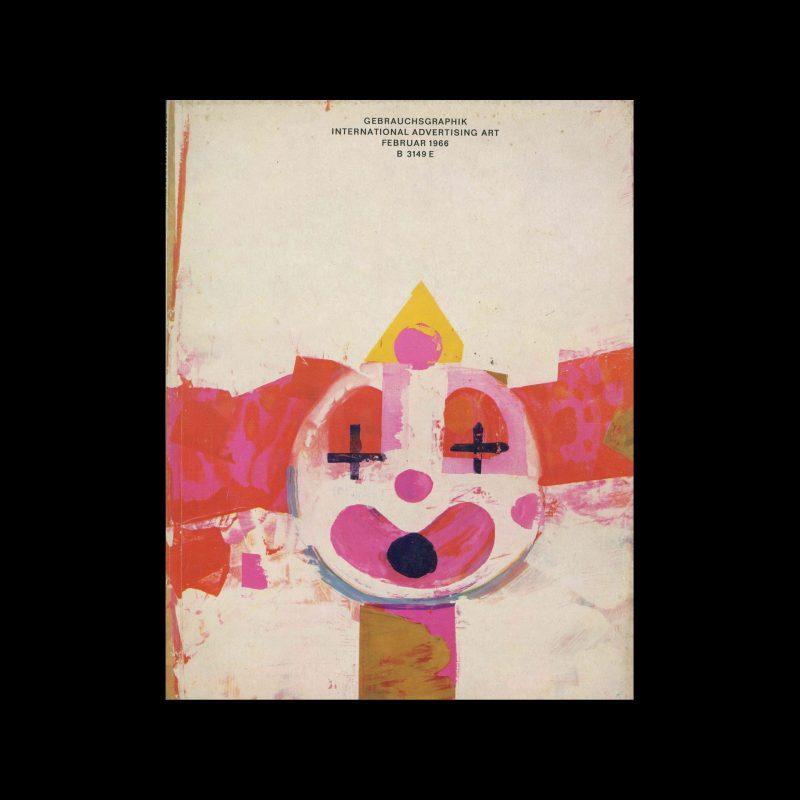 Gebrauchsgraphik, 2, 1966. Cover design by Roland Winkler