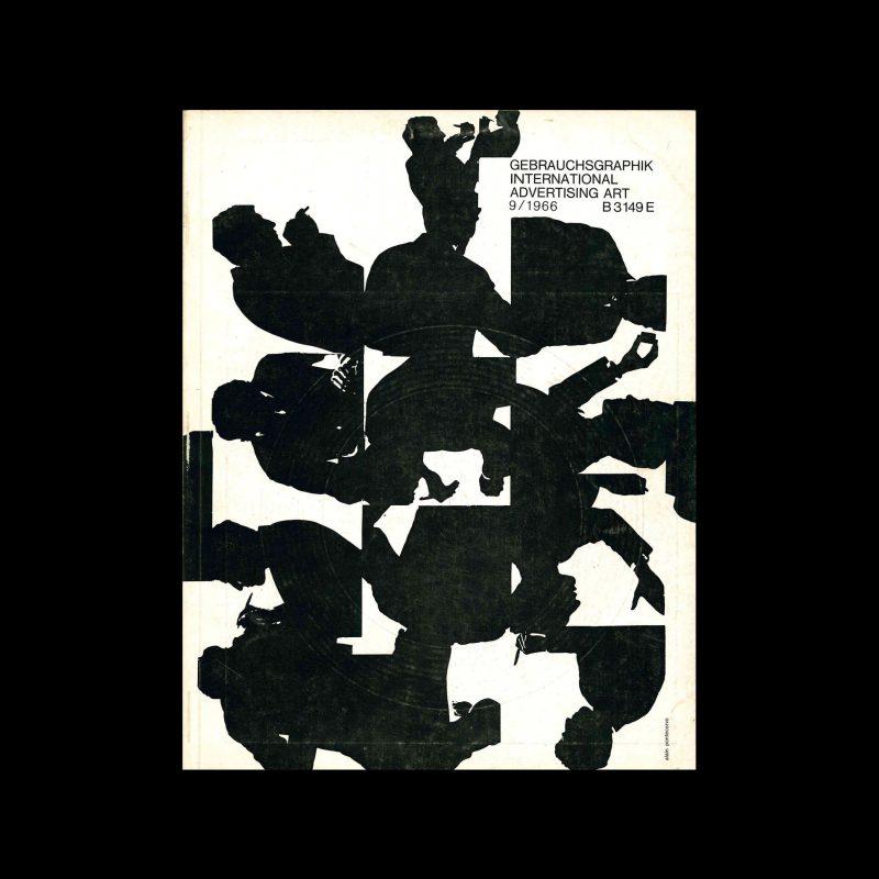 Gebrauchsgraphik, 9, 1966. Cover design by Alain Pontecorvo