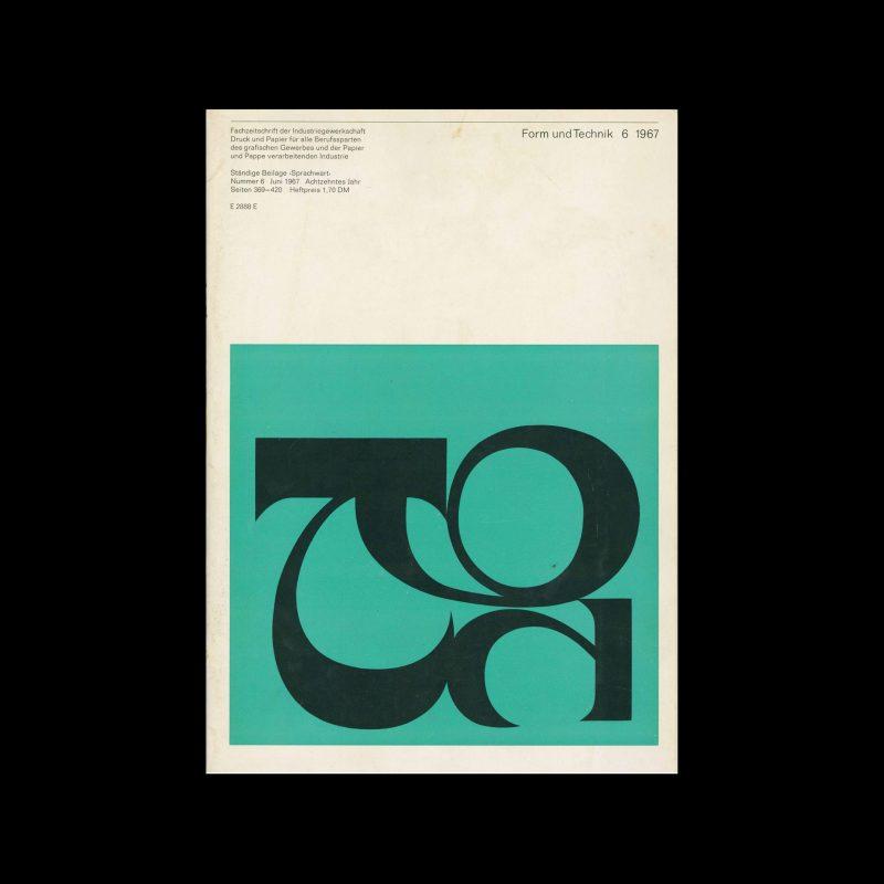 Form und Technik, 6, 1967