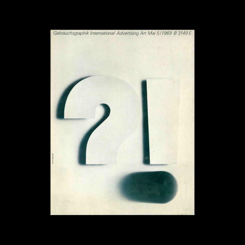 Gebrauchsgraphik, 5, 1969. Cover design by Pierre Mendell