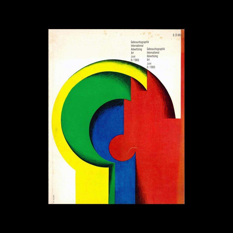 Gebrauchsgraphik, 6, 1969. Cover design by Toni Blank