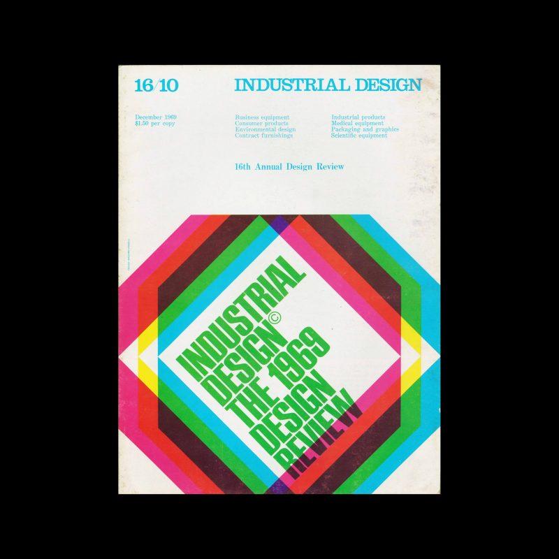 Industrial Design, December, 1969. Cover design by Massimo Vignelli