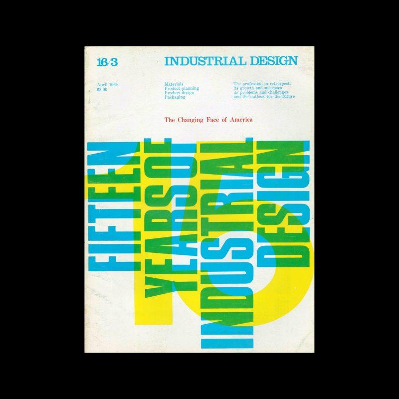 Industrial Design, April, 1969. Cover design by Massimo Vignelli