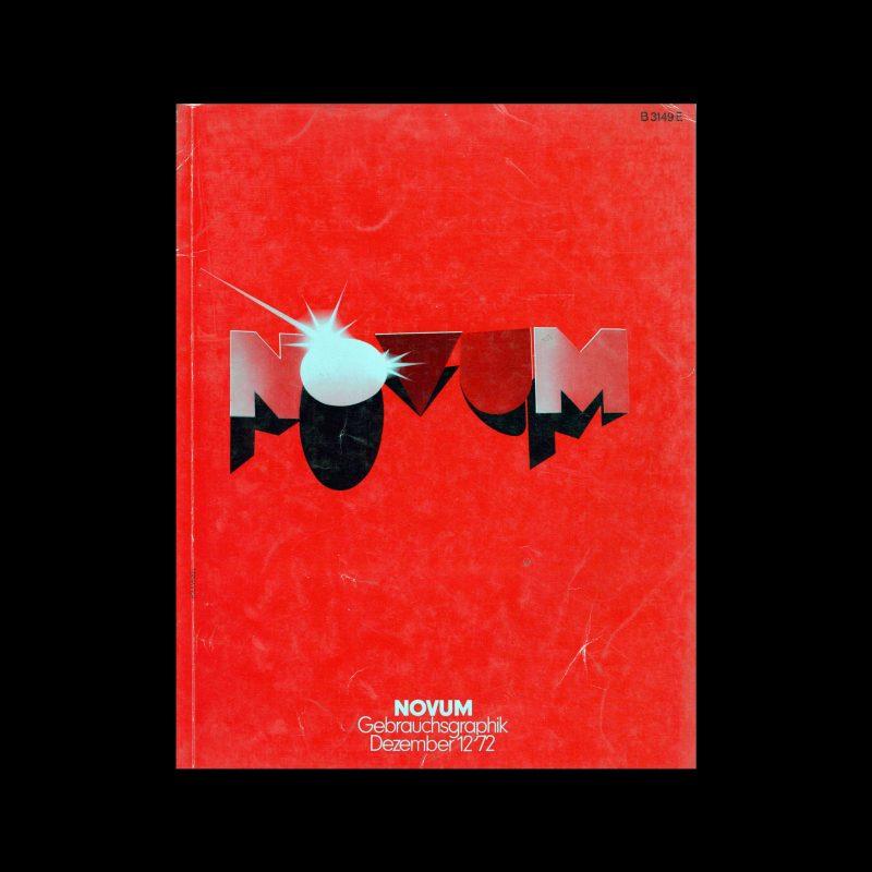 Novum Gebrauchsgraphik, 12, 1972. Cover design by Wolfgang Heuwinkel