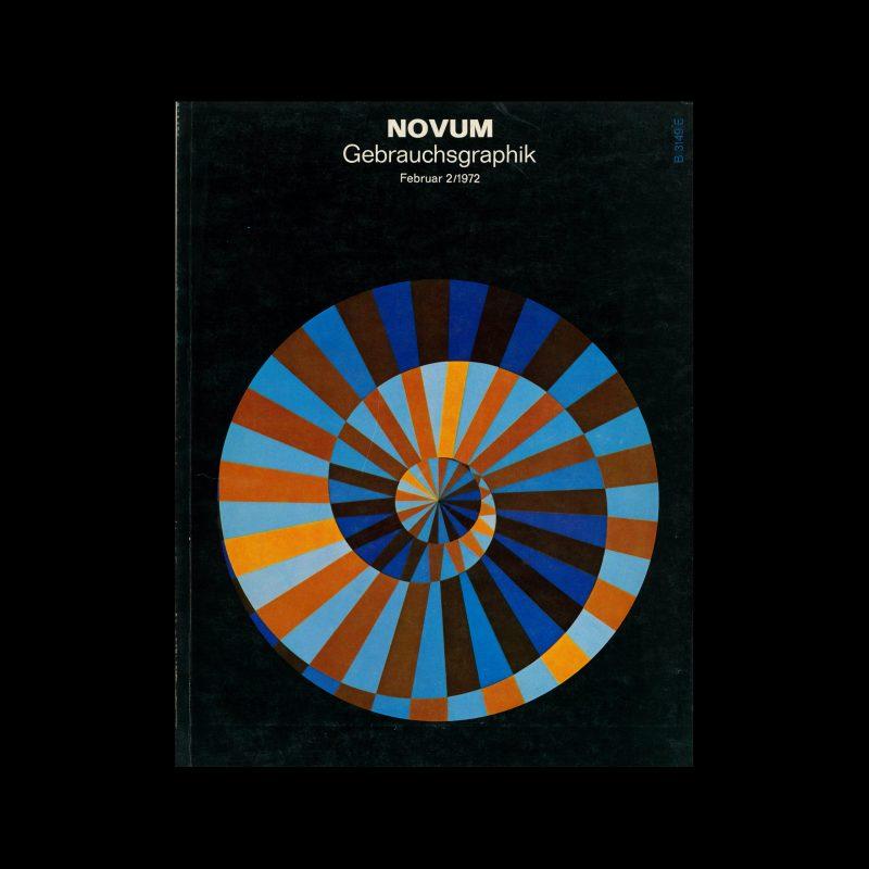 Gebrauchsgraphik, 2, 1972. Cover design by Victor Vasarely