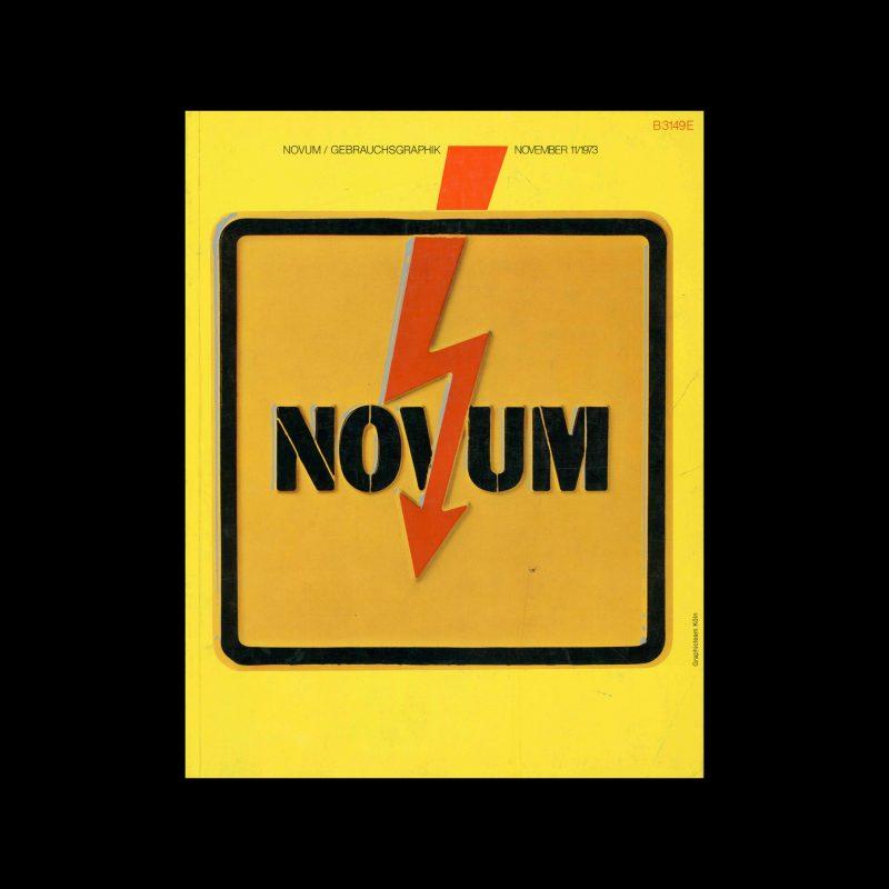 Novum Gebrauchsgraphik, 11, 1973. Cover design by Graphicteam Köln