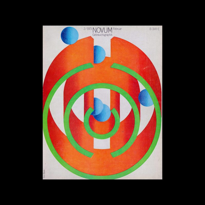 Novum Gebrauchsgraphik, 2, 1973. Cover design by Toni Blank