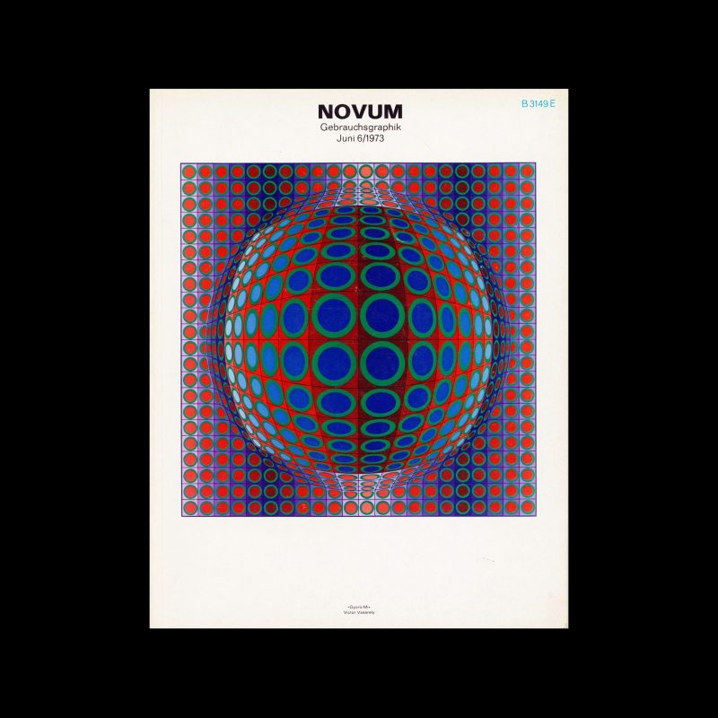 Novum Gebrauchsgraphik, 6, 1973. Cover design by Victor Vasarely